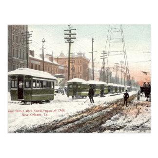 Nieve 1895 del St del canal de New Orleans Tarjetas Postales