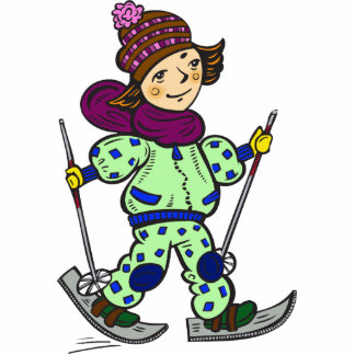 Nieve 2 de esquí del chica fotoescultura vertical