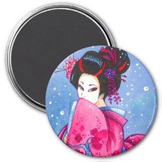 "Nieve 3"" de la sorpresa imán, arte del geisha de M"