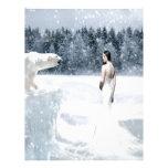 Nieve abstracta de la fantasía membrete
