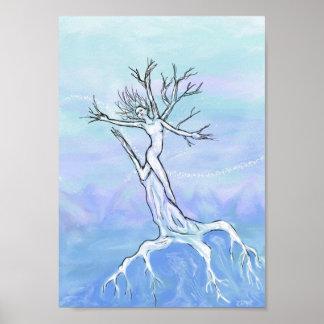 Nieve acumulada por la ventisca impresiones