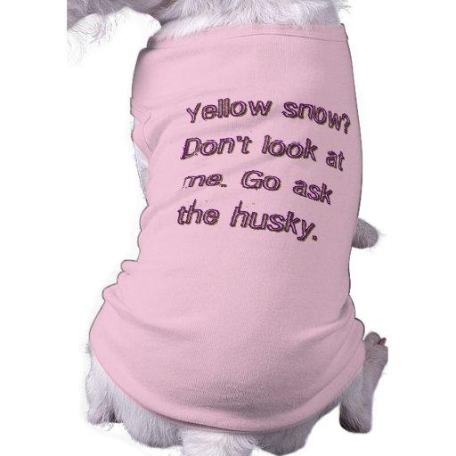 ¿Nieve amarilla? Go pide el perro esquimal Camiseta De Mascota