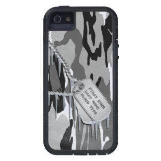 Nieve ártica Camo con las placas de identificación iPhone 5 Fundas