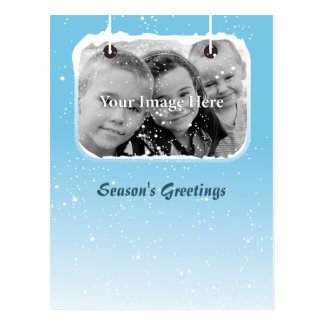 Nieve azul personalizada tarjeta postal