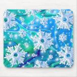 Nieve azul tapetes de ratón