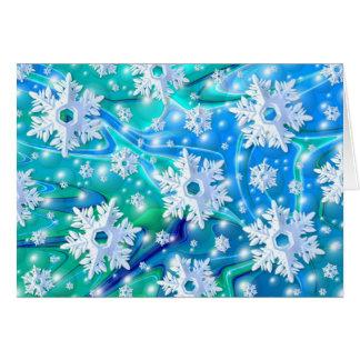 Nieve azul tarjetón