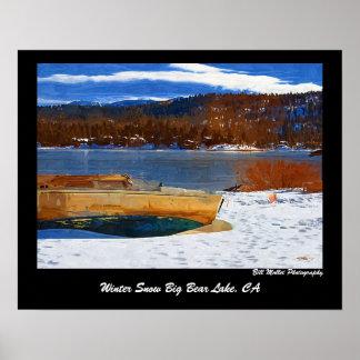 Nieve Big Bear, CA del invierno Póster