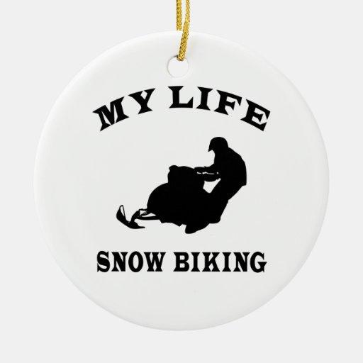 Nieve Biking mi vida Ornamente De Reyes