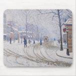Nieve, Boulevard de Clichy, París, 1886 Alfombrilla De Ratones
