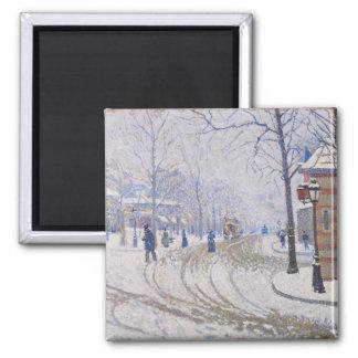 Nieve, Boulevard de Clichy, París, 1886 Imán Cuadrado