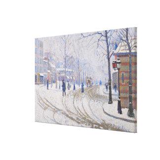 Nieve, Boulevard de Clichy, París, 1886 Impresión De Lienzo
