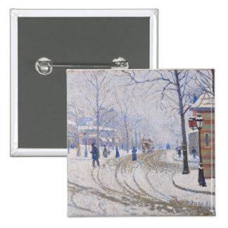 Nieve, Boulevard de Clichy, París, 1886 Pin