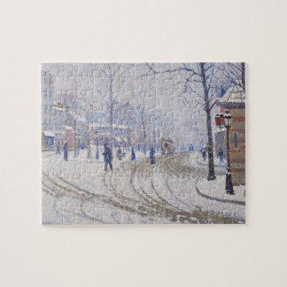 Nieve, Boulevard de Clichy, París, 1886 Rompecabeza