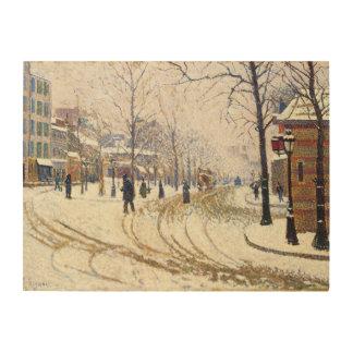 Nieve, Boulevard de Clichy, París de Paul Signac Impresiones En Madera