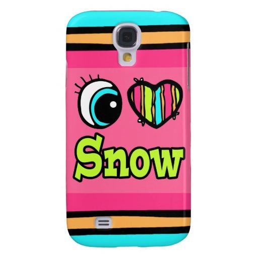 Nieve brillante del amor del corazón I del ojo Funda Para Galaxy S4