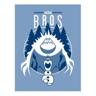 Nieve Bros Olaf y melcocha Tarjeta Postal