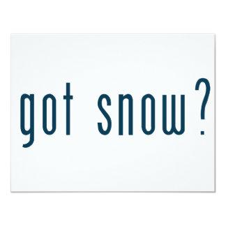 """nieve conseguida invitación 4.25"""" x 5.5"""""""