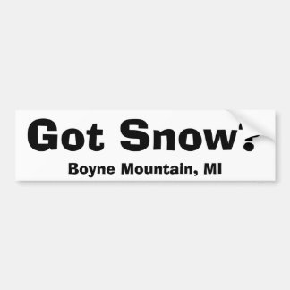 ¿Nieve conseguida? , Montaña de Boyne, MI Pegatina Para Auto