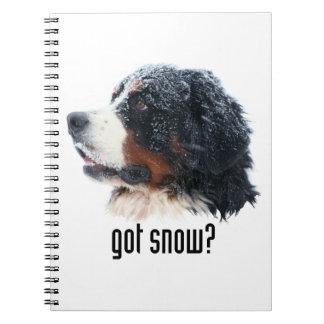 ¿nieve conseguida? Perro de montaña de Bernese Libretas Espirales