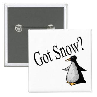 ¿Nieve conseguida? (Pingüino) Pin Cuadrada 5 Cm
