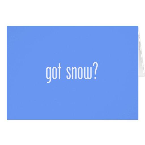 ¿nieve conseguida? tarjeta de nota azul