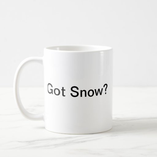 ¿Nieve conseguida? taza