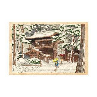 Nieve de Asano Takeji en arte del hanga de la espi Impresión En Lona