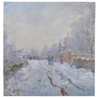 Nieve de Claude Monet en Argenteuil Servilletas Imprimidas