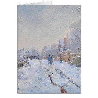 Nieve de Claude Monet //en Argenteuil Tarjeta De Felicitación
