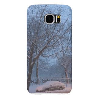 Nieve de febrero en NYC Samsung S6 PhoneCase Fundas Samsung Galaxy S6