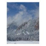 Nieve de Flatiron que saca el polvo de Boulder Col Membretes Personalizados