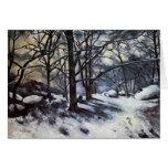 Nieve de fusión de Paul Cezanne-. Fontainbleau Tarjeta De Felicitación