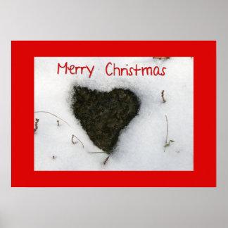 Nieve de fusión del corazón/Felices Navidad Posters