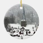 Nieve de Godalming Adorno Redondo De Cerámica