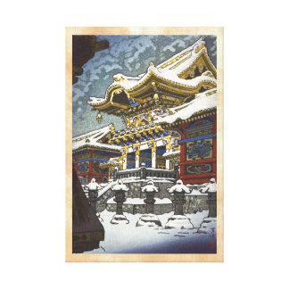 Nieve de Kasamatsu Shiro en la puerta de Yomei en  Impresiones En Lona
