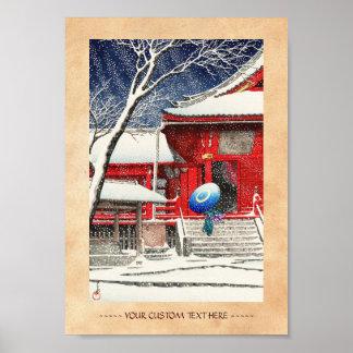 Nieve de Kawase Hasui en el arte del hanga de Ueno Posters