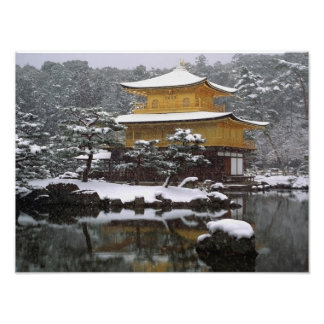 Nieve de Kinkaku Arte Fotográfico
