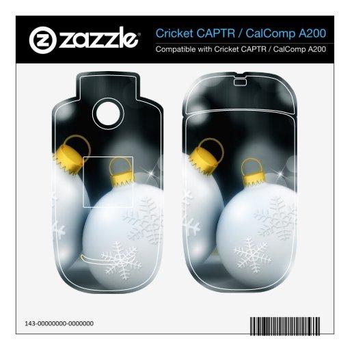 Nieve de la bola del advenimiento de los ornamento cricket CAPTR calcomanías
