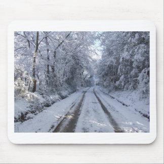 Nieve de la carretera nacional mouse pad