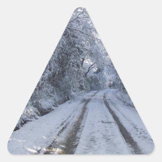 Nieve de la carretera nacional pegatina triangular
