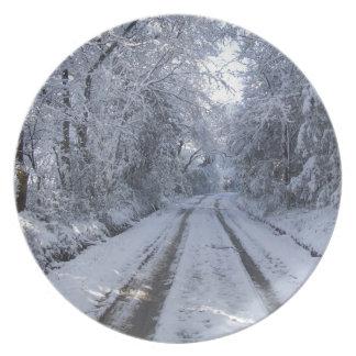 Nieve de la carretera nacional platos