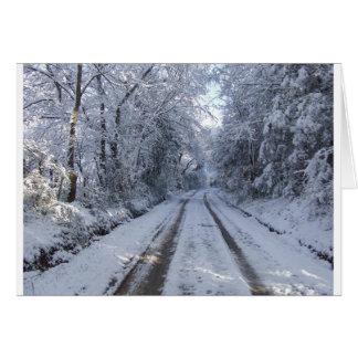 Nieve de la carretera nacional tarjeta de felicitación