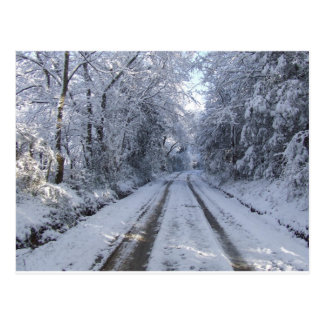 Nieve de la carretera nacional tarjetas postales
