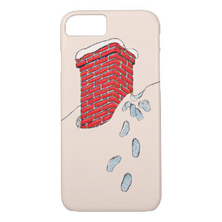 Nieve de la chimenea de las huellas de Papá Noel Funda iPhone 7