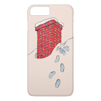 Nieve de la chimenea de las huellas de Papá Noel Funda iPhone 7 Plus