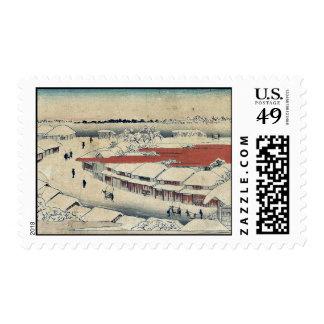 Nieve de la mañana en Yoshiwara por Ando Hiroshig