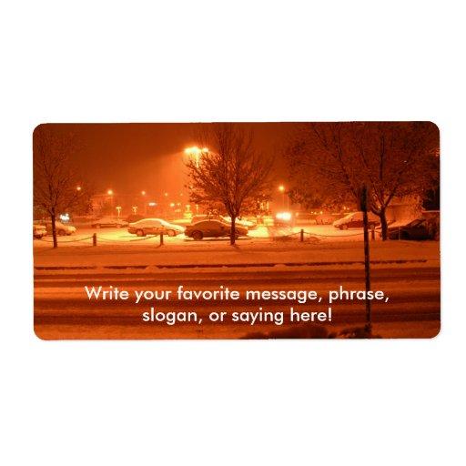 Nieve de la mañana etiquetas de envío
