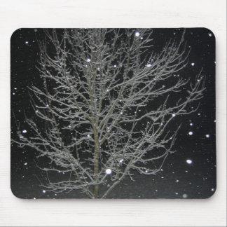Nieve de la noche tapete de raton