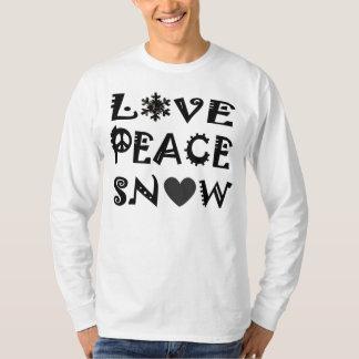 nieve de la paz del amor playera