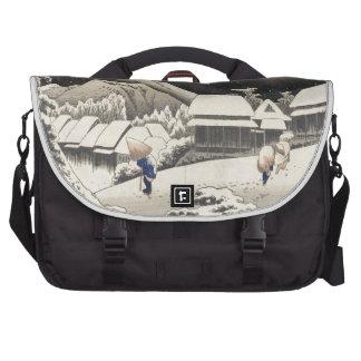 Nieve de la tarde bolsas para portatil